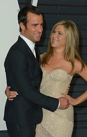 ANDRE SKILSMISSE: Jennifer Aniston og Justin Theroux kunngjorde at de skulle skilles etter to år som gift, i fjor. Foto: NTB SAcanpix
