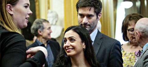 Hadia Tajik holdt forlovelsen hemmelig
