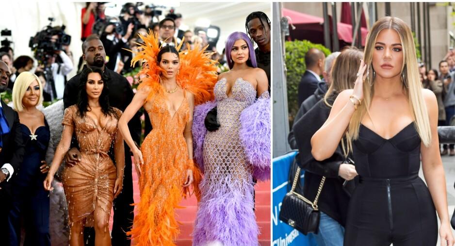 IKKE TIL STEDE: Mens store deler av Kardashian-Jenner-familien var på MET-gallaen natt til tirsdag, måtte Khloé Kardashian holde seg hjemme. Foto: NTB scanpix