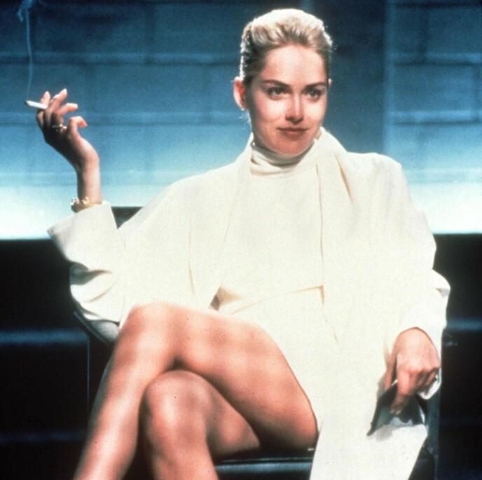 IKONISK: Sharon Stones filmøyeblikk fra «Basic Instinct» er i dag blitt til en av de mest kjente scenene i filmhistorien. Foto: NTB Scanpix / REX / NTB