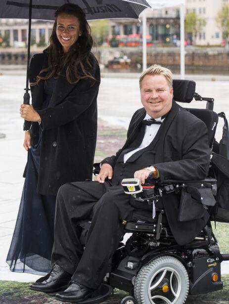 KONGELIG BURSDAG: Dagfinn og kona var invitert til festmiddagen i Operaen i anledning kongeparets 80-årsfeiring i 2017. Foto: NTB Scanpix
