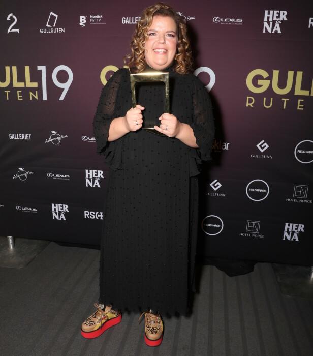 VANT PRIS: Else Kåss Furuseth var kveldens første prisvinner. Foto: Andreas Fadum