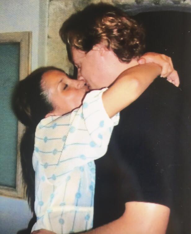 VAR FORELSKET: Meghan og Trevor var sammen i seks år før de giftet seg. Foto: NTB scanpix