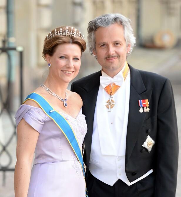 <strong>EKSMANNEN:</strong> Prinsesse Märtha Louise giftet seg med forfatter Ari Behn i 2002. Paret fikk tre døtre sammen. I 2016 tok paret ut skilsmisse. Foto: NTB scanpix