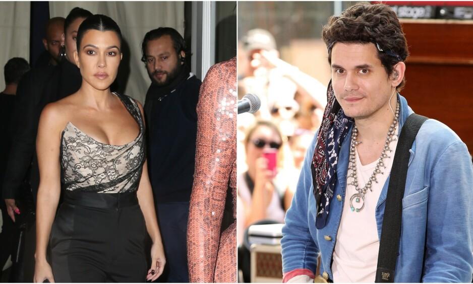 ROMANSERYKTER: Spekulasjoner om at realitystjernen Kourtney Kardashian og artist John Mayer hadde funnet tonen satte fart i desember, men ingen av stjernene har omtalt den angivelige romansen før nå. Foto: NTB scanpix