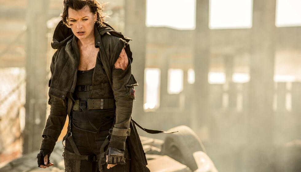OPPGJØR: Skuespiller Milla Jovovich går hardt ut mot de nye abortlovene i flere amerikanske delstater. Dette bildet er hentet fra «Resident Evil: The Final Chapter». Foto: Moviestore/rex, NTB scanpix