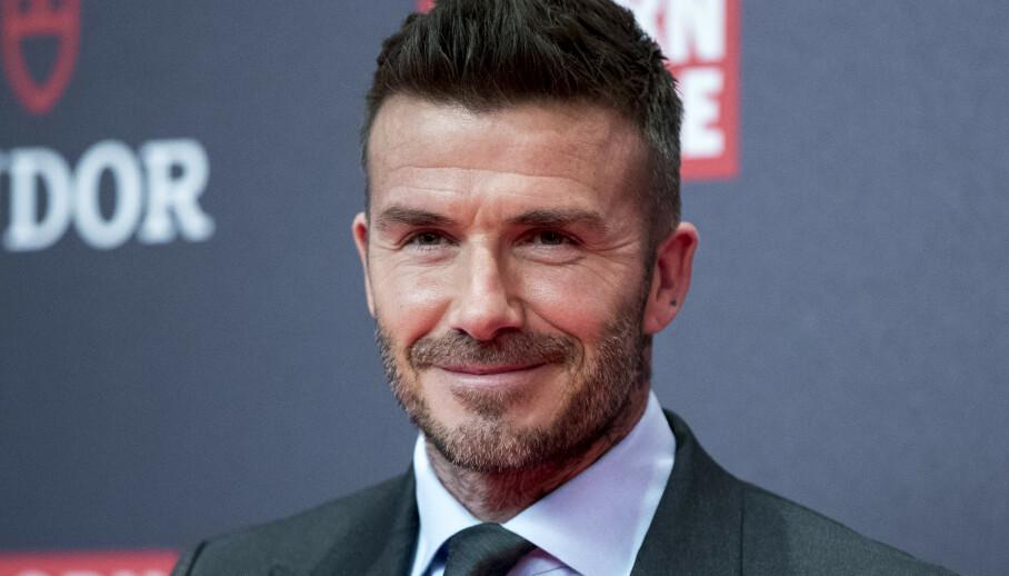 SPESIELL GAVE: Fotballstjernen David Beckham avslører at han fikk en testikkeltrimmer av sønnen Cruz Beckham i gave. Foto: NTB Scanpix