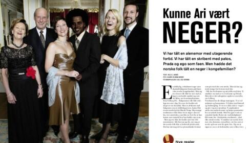 <strong>HVERDAGSRASISME:</strong> I en temasak i 2002 stilte kvinnemagasinet KK spørsmålet «Kunne Ari vært neger?». Faksimile KK.