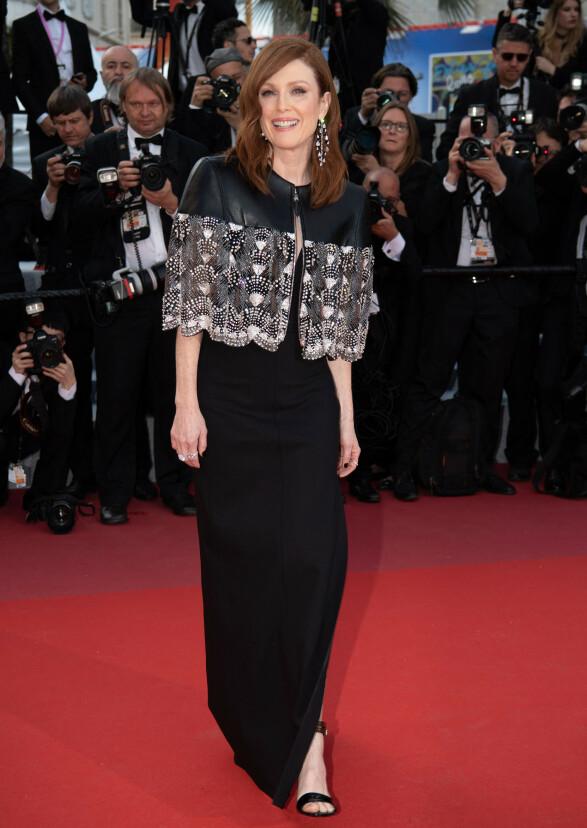 <strong>JULIANNE MOORE:</strong> Stjernen stilte i Louis Vuitton under Cannes-åpningen forrige uke. Foto: NTB scanpix