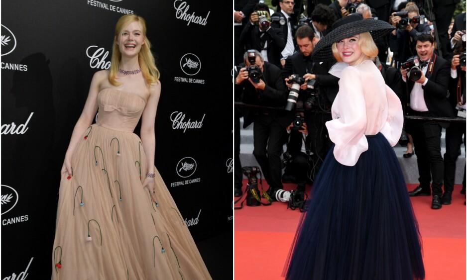 GIKK I BAKKEN: Skuespiller Elle Fanning svimte av under en prisutdeling i Cannes. Nå forteller hun årsaken. Foto: NTB scanpix