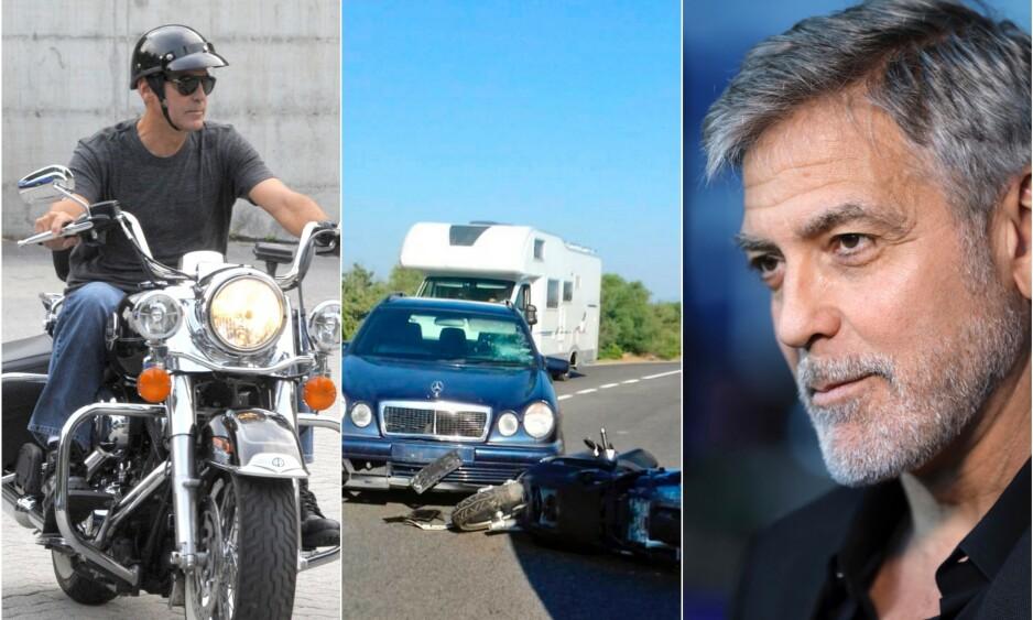 <strong>- DET VAR ILLE:</strong> George Clooney slapp utrolig nok unna med lettere skader da han var involvert i en ulykke i fjor, men han innrømmer at hendelsen ble en vekker for ham. Foto: NTB Scanpix