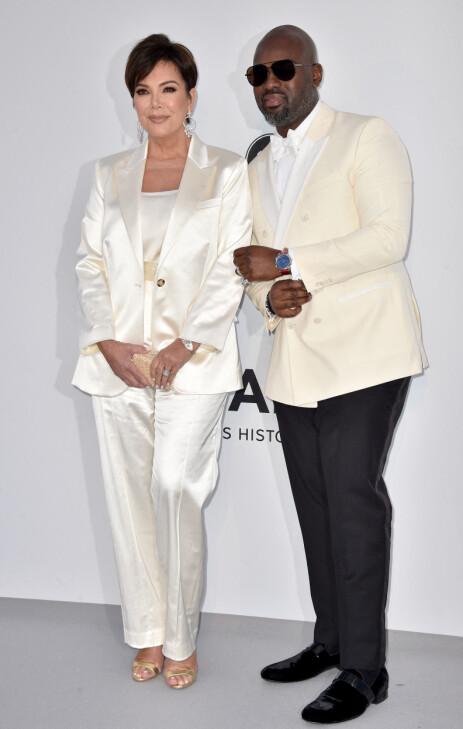 KJÆRESTER: Kris Jenner hadde med seg kjæresten til den franske rivieraen. Foto: NTB Scanpix