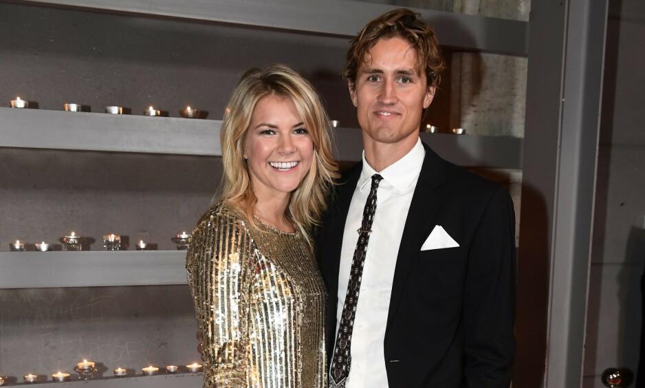 MAN OG KONE: Ada Hegerberg og Thomas Rogne giftet seg lørdag 25. mai. Foto: Jon Olav Nesvold / NTB Scanpix