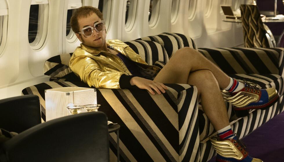 ROCKETMAN: Taron Egerton spiller Elton John i den kommende filmen. Foto: NTB Scanpix