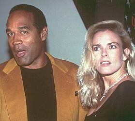 <strong>GIFT:</strong> O.J. Simpson og Nicole Brown Simpson var gift fra 1985 til 1992. To år etter ble fotballproffens ekskone funnet drept. Foto: NTB scanpix