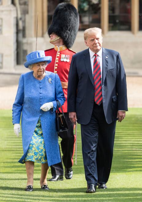 NYTT MØTE: Trump-ekteparet har møtt dronningen tidligere. Her i fjor sommer. Foto: NTB Scanpix