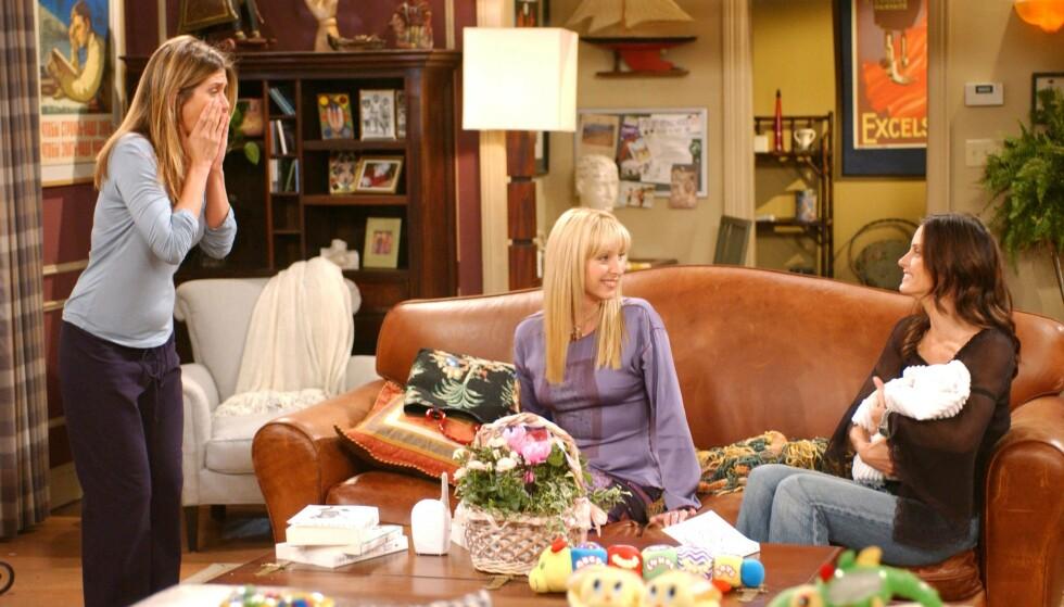 KOMPLEKSER: Spesielt da hun så seg selv på skjermen sammen med Jennifer Aniston og Courteney Cox, følte Lisa Kudrow seg dårlig. Foto: NTB Scanpix