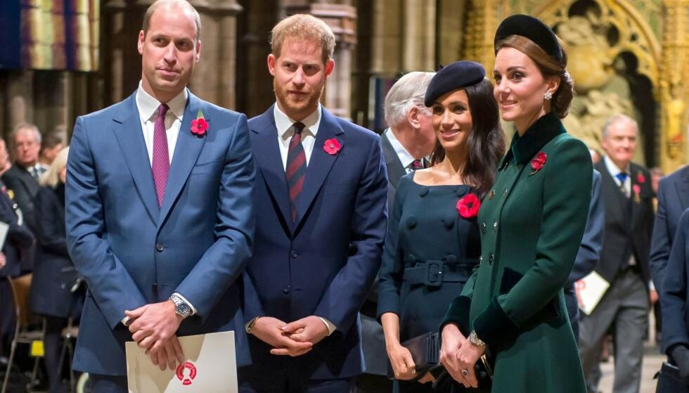 FORSONET: Lille Archie var visstnok det som trengtes for at det skulle bli full forsoning mellom hertuginne Kate og Meghan. Foto: NTB scanpix