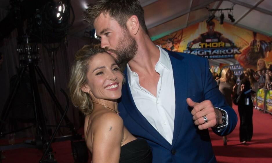 FLOTT PAR: Elsa Pataky og Chris Hemsworth har vært gift siden 2010. Nå forteller actionhelten om forholdet med den spanske modellen. Foto: NTB Scanpix