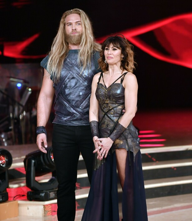DANSEPARTNER: Her er nordmannen avbildet sammen med dansepartneren Sara Di Vaira. Foto: NTB scanpix