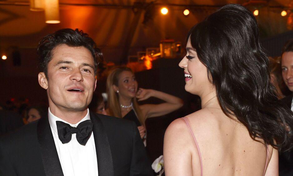 RØPER DETALJER: Forlovelsen mellom Katy Perry og Orlando Bloom skal ha vært svært romantisk. Foto: NTB Scanpix