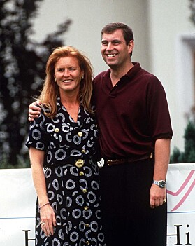 <strong>DEN GANG DA:</strong> Sarah og Andrew i 1995, året før de skilte seg. Foto: NTB Scanpix