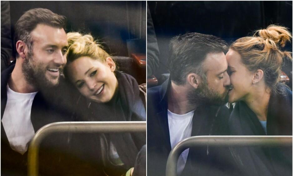 <strong>TURTELDUER:</strong> Jennifer Lawrence og forloveden Cooke Maroney planlegger bryllup. Foto: NTB Scanpix