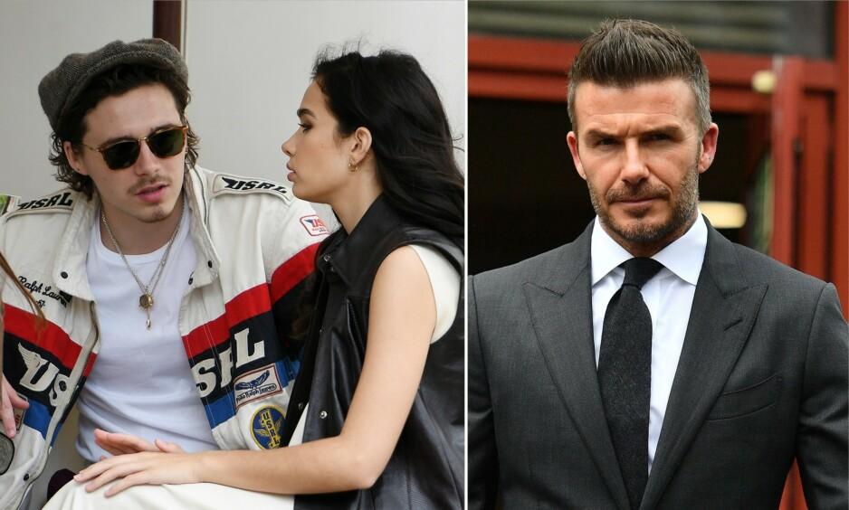 <strong>BEKYMRET:</strong> David Beckham skal være svært bekymret for sønnens forhold, etter at Brooklyn og Hana er blitt avbildet i opphetede diskusjoner ved flere anledninger de siste ukene. Foto: NTB Scanpix