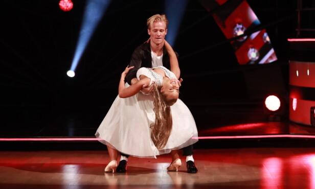 TREDJEPLASS: Fredric Brunberg danset med Martine Lunde i forrige sesong av dansekonkurransen. Foto: TV 2 / NTB Scanpix