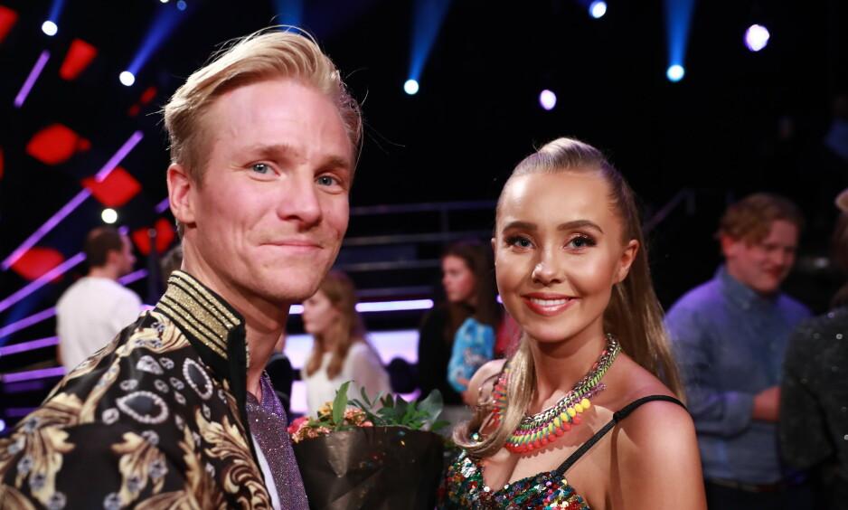 TRAKK SEG: Fredric Brunberg skulle etter planen ha konkurrert i den svenske versjonen av «Skal vi danse» i vår. Slik gikk det imidlertid ikke. Her med Martine Lunde. Foto: NTB Scanpix