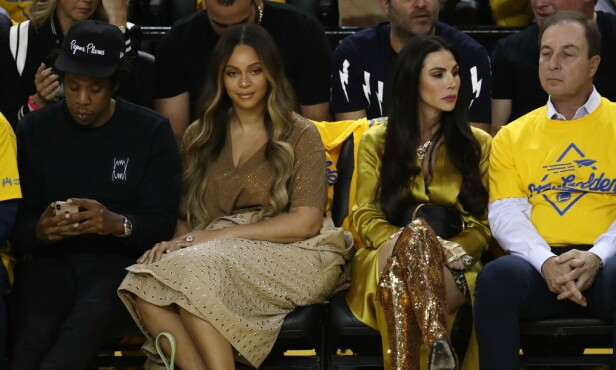 TILFREDS: Beyoncé så ut til å være fornøyd etter å ha satt Curran på plass. Foto: NTB Scanpix