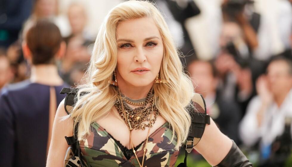 STOR OPPSTANDELSE: Superstjernen Madonna får stor oppmerksomhet for sitt nylige bilde på Instagram. Foto: NTB Scanpix
