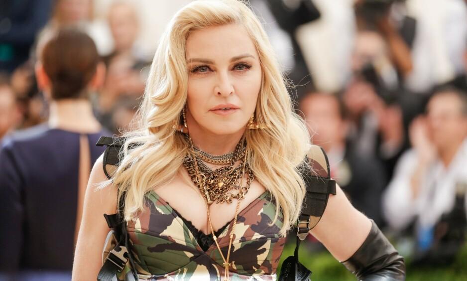 <strong>MISFORNØYD:</strong> Madonna er ikke fornøyd med hvordan portrettintervjuet hennes i New York Times ble seende ut. Her er hun på den celebre MET-gallaen i New York i 2017. Foto: BFA/REX/ NTB scanpix