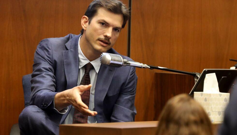 MÅTTE VITNE: Skuespiller Ashton Kutcher var til stede ved boligen den kvelden Ashley Ellerin ble knivdrept. Han har for øvrig aldri vært mistenkt i saken. Foto: NTB Scanpix