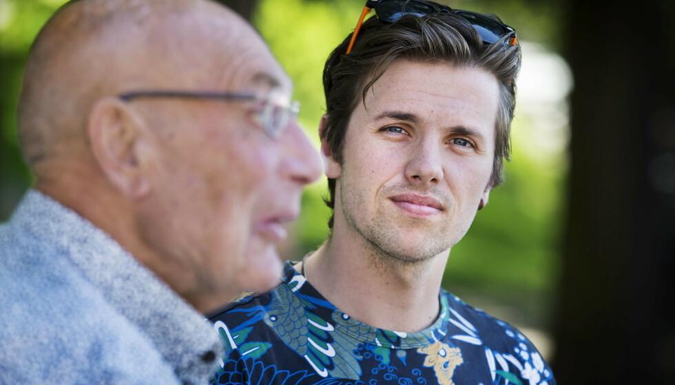 SYKDOM: Samuel Massie og bestefaren Arne Ulvolden må utsette reisen inntil videre som følge av at Massie sliter med sykdom. Foto: Henning Lillegård / Dagbladet