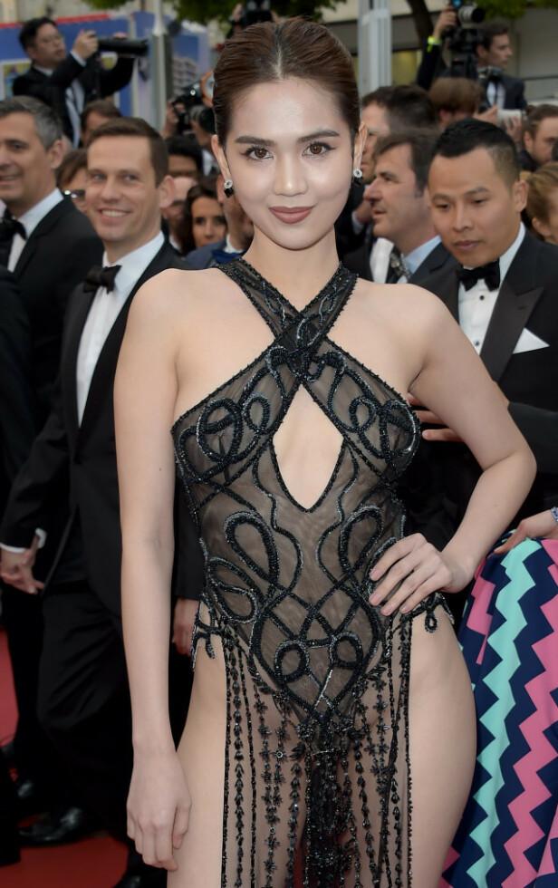 SKAPTE REAKSJONER: Denne kjolen har vært gjenstand for kritikk. Nå risikerer modellen bøter. Foto: NTB Scanpix