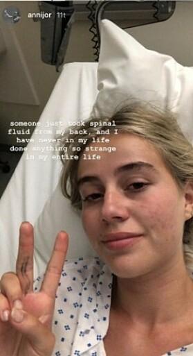 HELSEUTFORDRINGER: Anniken Jørgensen er lei seg for at hun ikke får delta i realityprogammet. Skjermdump: Instagram