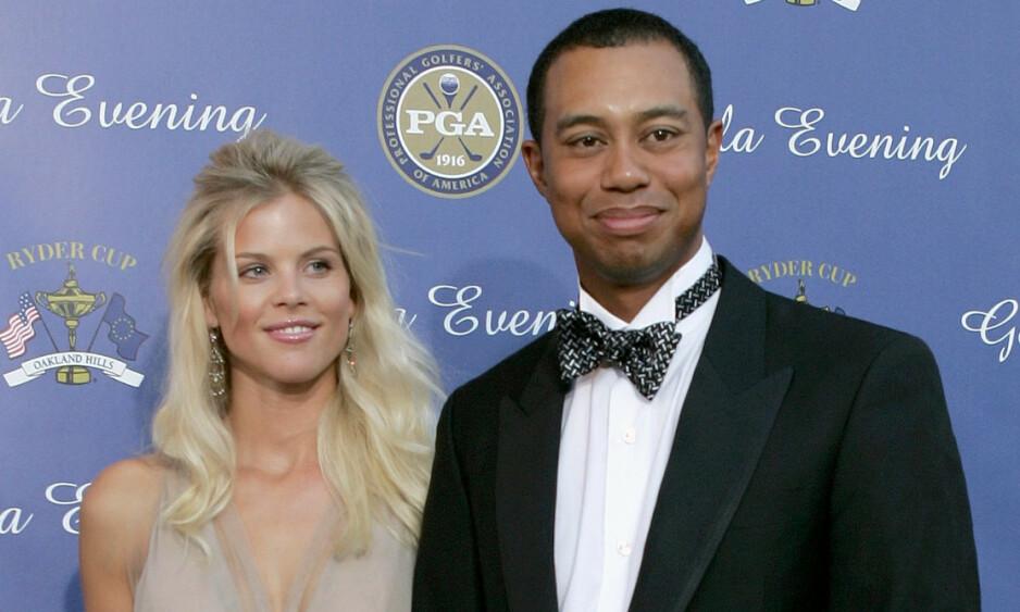 GRAVID: Elin Nordegren skal vente barn med sin nye kjæreste. Her med eksmannen Tiger Woods. Foto: NTB Scanpix