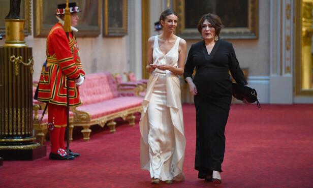 PÅ BANKETT: Rose var på plass på Buckingham Palace tidligere denne måneden. Hun hadde imidlertid verken med seg ektemannen eller gifteringen sin. Foto: NTB Scanpix
