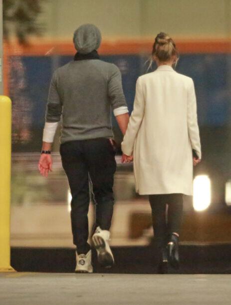 BRUDD: Dakota og Chris i februar i fjor. Foto: NTB Scanpix