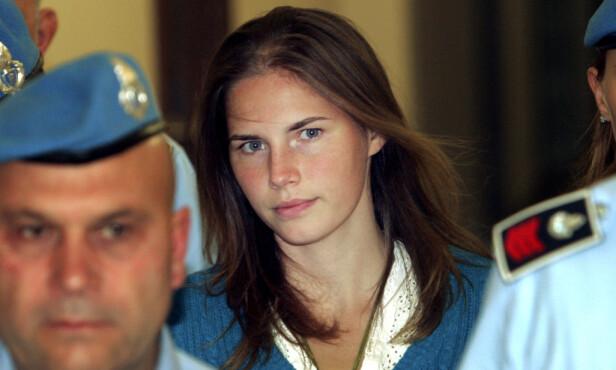 <strong>DØMT:</strong> Amanda Knox ble dømt for drap i Italia. Hun ble frikjent etter anke i 2011. Her var hun i 2008. Foto: NTB scanpix