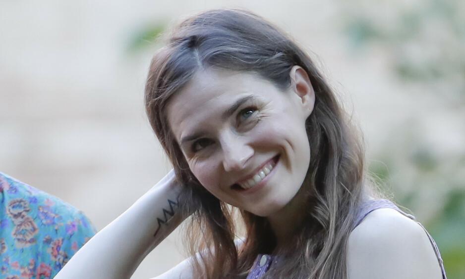 <strong>FRIKJENT:</strong> Etter å ha blitt dømt for drapet på den britiske studenten Meredith Kercher, ble Amanda Knox i 2015 frikjent. Denne uken var hun tilbake i Italia for første gang. Foto: NTB Scanpix