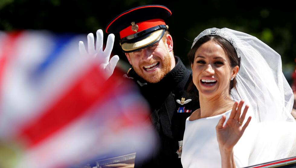 POLITISK MOTIV: Enkelte vil ha det til at bryllupet mellom amerikanske Meghan Markle og britiske prins Harry er en del av en større plan i regi av Storbritannia. Foto: NTB Scanpix