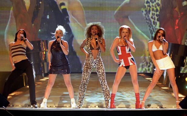 <strong>SUKSESS:</strong> Jentene i Spice Girls ble raskt en verdenskjent popgruppe. Mange fans fikk derfor hjertesorg da Geri Halliwell brått sluttet. Foto: Pa Photos / NTB Scanpix