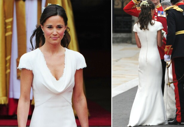 FALSK: En ridder av Grimaldis orden hevder at Pippa Middletons bakende var falsk under prinsebryllupet i 2011. Foto: NTB Scanpix
