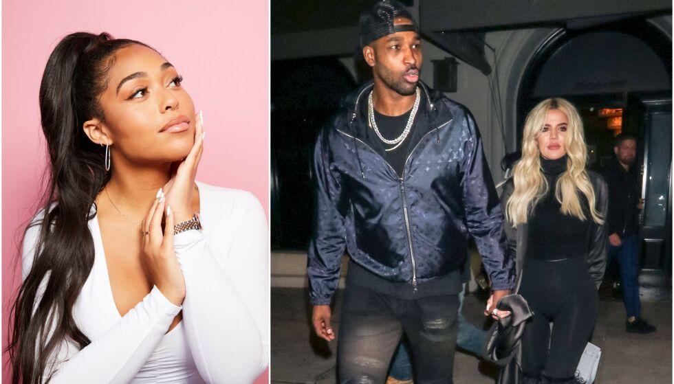 DRAMA: Trekantdramaet mellom Jordyn Woods (t.v.), og Tristan Thompson og Khloé Kardashian har fått massiv oppmerksomhet i kjendispressen de siste månedene. Nå håper Jordyn at alle kan gå videre. Foto: REX/ NTB scanpix