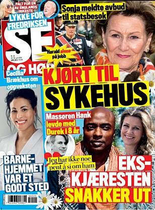 <strong>SNAKKER UT:</strong> Du kan lese om Durek Verretts ekskjæreste i ukens utgave av Se og Hør. Foto: Faksimile