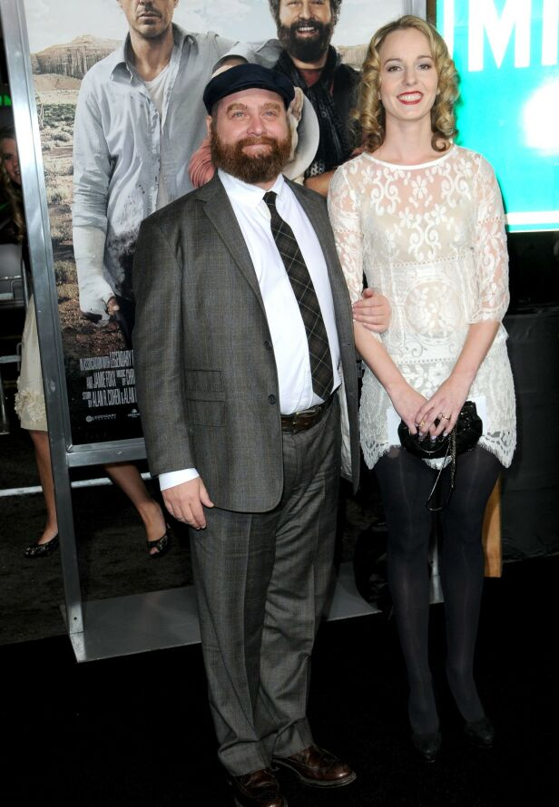 EKTEPAR: Zach Galifianakis og Quinn Lundberg giftet seg i 2013 og har to barn sammen. Foto: NTB scanpix