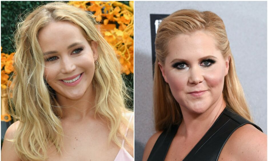 VENNINNER: Jennifer Lawrence og Amy Schumer har vært nære venninner i flere år. Etter at komikeren fikk barn, hører derimot skuespilleren mindre til henne. Og det gir hun klar beskjed om. Foto: NTB Scanpix