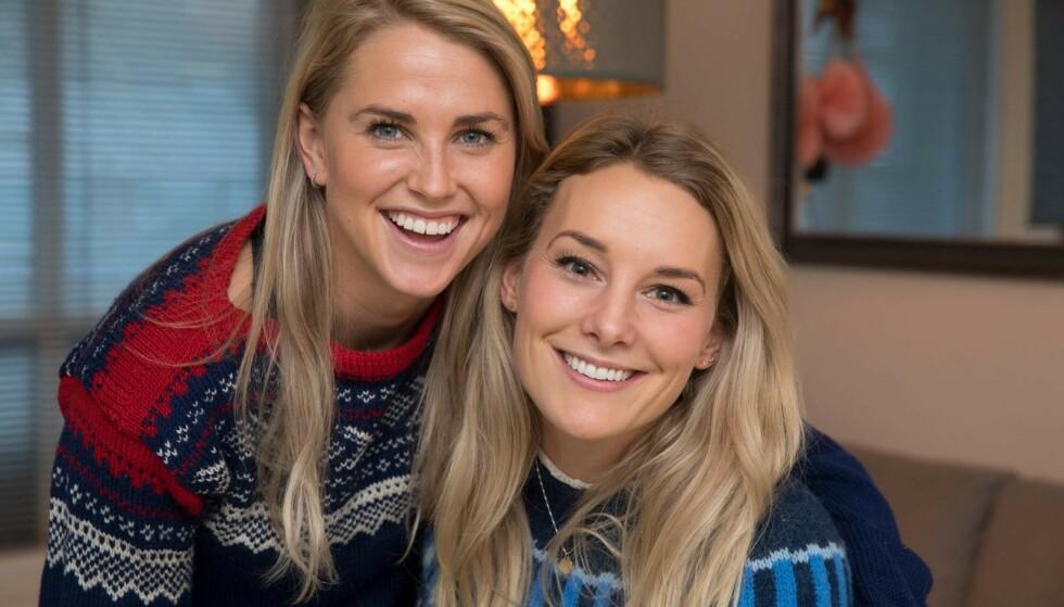 LYKKELIGE: Kjærligheten blomstrer for Tonje og Lene som nyforlovede. Foto: Espen Solli